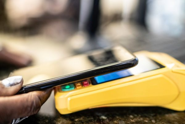 Customer paying using mobile phone